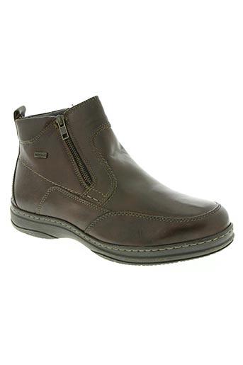 santafe chaussures homme de couleur marron