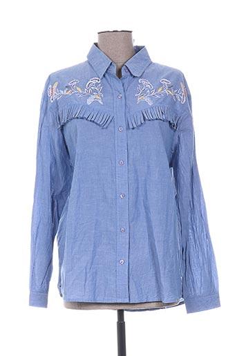 my sunday morning chemises femme de couleur bleu
