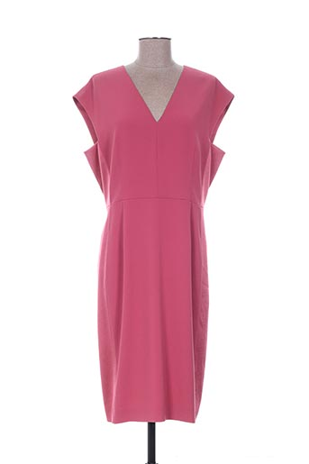 Robe mi-longue rose PAULE KA pour femme