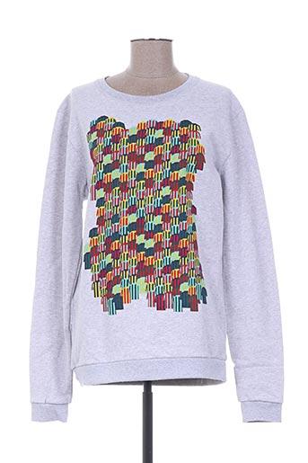 Sweat-shirt gris CEDRIC CHARLIER POUR PRINTEMPS & SEPP pour femme