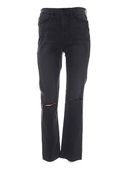 Jeans coupe droite gris FRAME pour femme