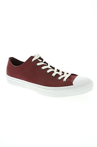 converse chaussures femme de couleur rouge