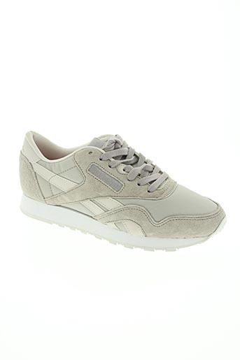 reebok chaussures femme de couleur gris