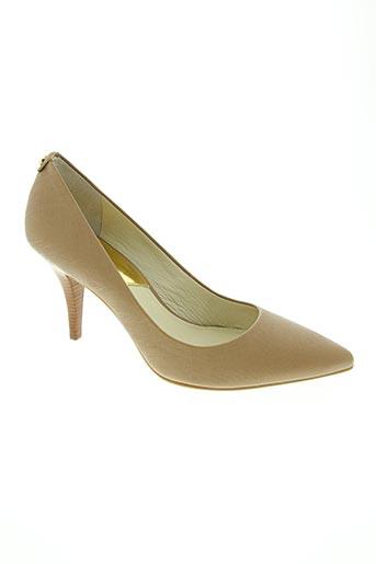 michael kors chaussures femme de couleur beige
