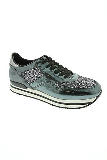 hogan chaussures femme de couleur gris