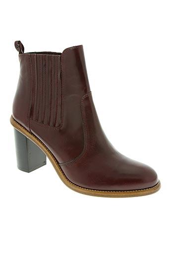 sixieme sens chaussures femme de couleur rouge