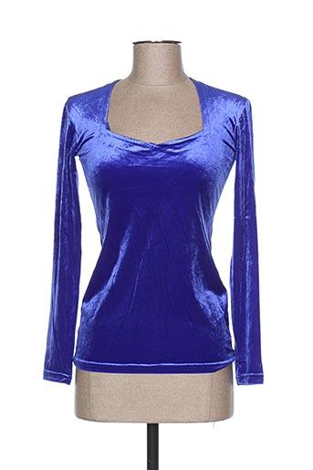 teenflo chemises femme de couleur bleu