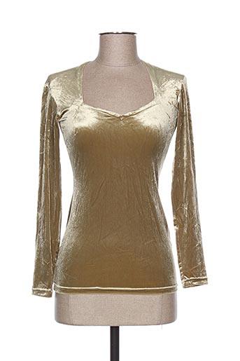 teenflo chemises femme de couleur beige