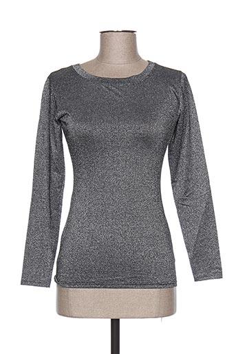teenflo chemises femme de couleur gris