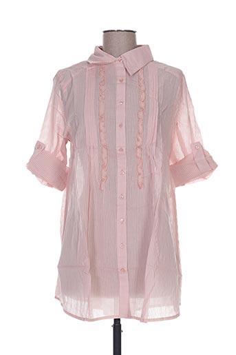 happy people chemises femme de couleur rose