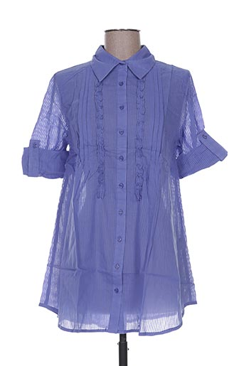 happy people chemises femme de couleur bleu