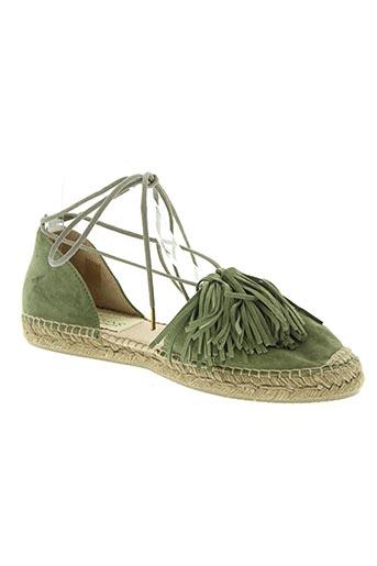 gaimo espadrilles chaussures femme de couleur vert