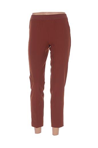 Pantalon 7/8 marron NICE THINGS pour femme