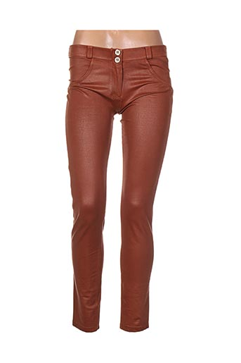 Pantalon casual marron FREDDY pour femme
