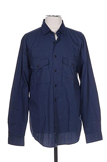 Chemise manches longues bleu STRELLSON pour homme