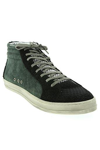 p448 chaussures homme de couleur vert