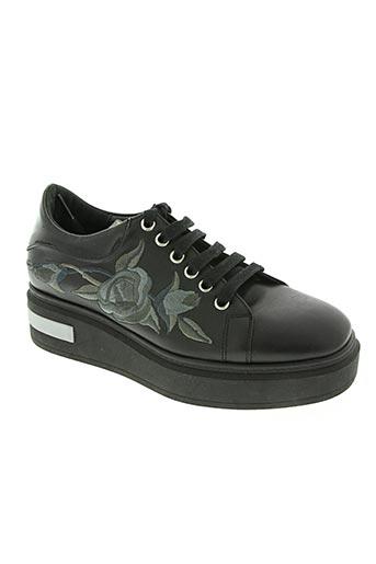 kanna chaussures femme de couleur noir