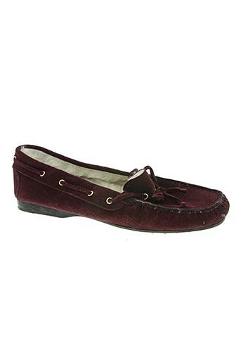 bertone chaussures femme de couleur rouge
