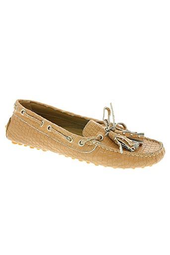 bertone chaussures femme de couleur beige