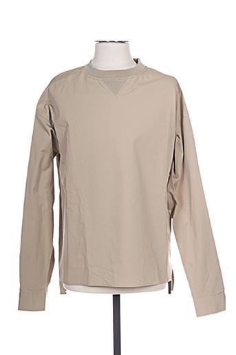 T-shirt manches longues beige DIESEL pour homme