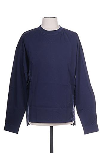 T-shirt manches longues bleu DIESEL pour homme