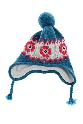Bonnet bleu PETIT BATEAU pour fille