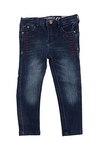 Jeans coupe slim bleu NOPPIES pour fille