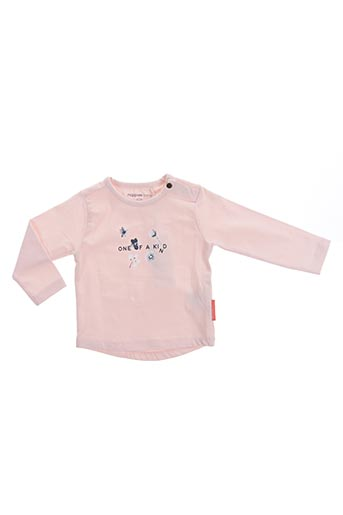 T-shirt manches longues rose NOPPIES pour fille