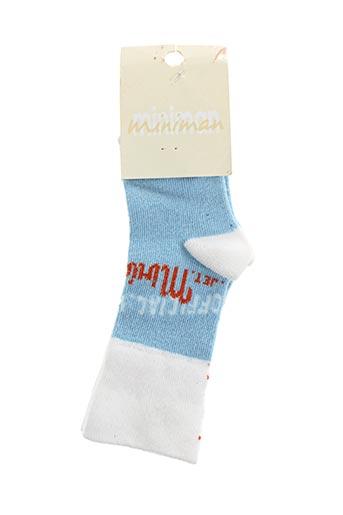 Chaussettes bleu MINIMAN pour garçon