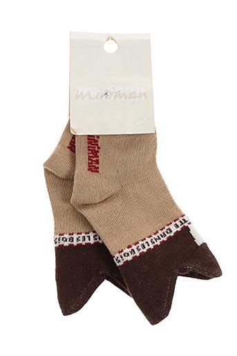 Chaussettes marron MINIMAN pour garçon