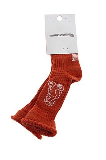Chaussettes orange MINIMAN pour garçon