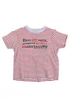 T-shirt manches courtes rouge TIMBERLAND pour garçon