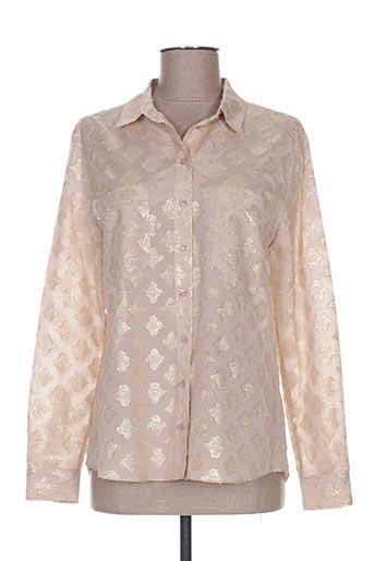 valerie khalfon chemises femme de couleur beige