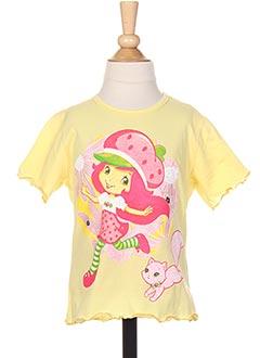 T-shirt manches courtes jaune EMILY ERABEER pour fille