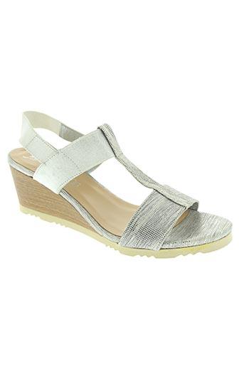 maria jaen chaussures femme de couleur gris