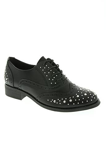 la bottine souriante chaussures femme de couleur noir