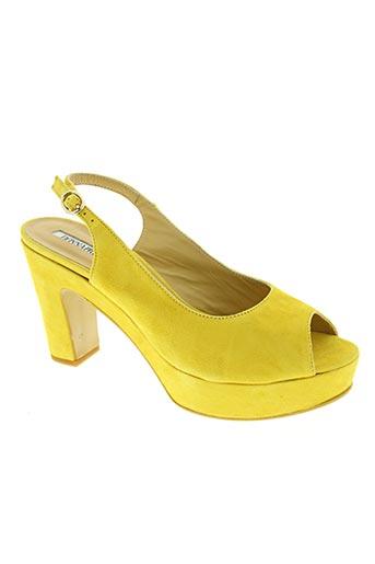 donna piu chaussures femme de couleur jaune