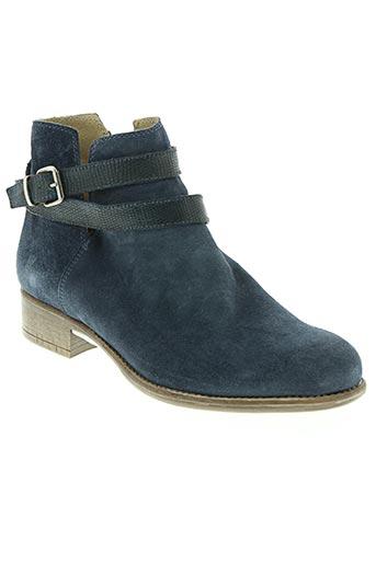manas chaussures femme de couleur bleu
