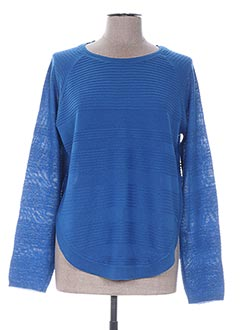 Pull col rond bleu ONLY pour femme