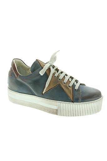 materia prima chaussures femme de couleur bleu