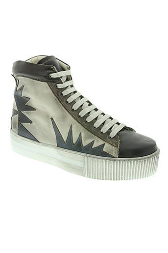 materia prima chaussures femme de couleur gris