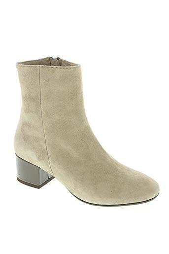 Bottines/Boots beige CHANTAL pour femme