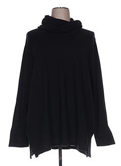 Pull tunique noir CHALOU pour femme