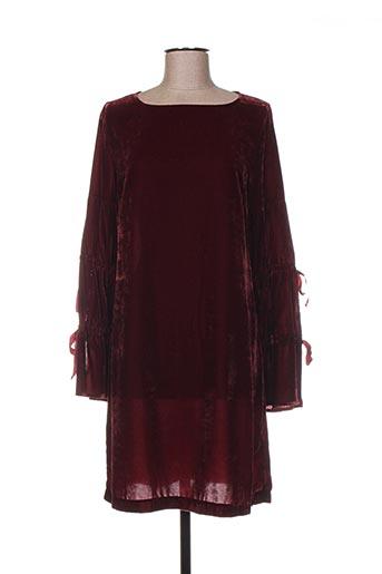Robe mi-longue rouge ÉCLÀ pour femme