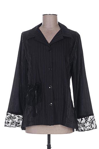 coco menthe chemises femme de couleur noir