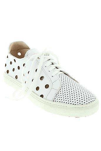 little...la suite chaussures femme de couleur blanc
