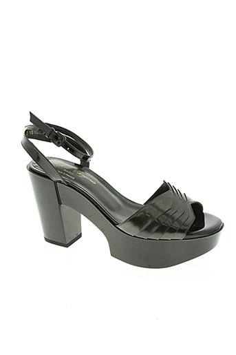 robert clergerie chaussures femme de couleur gris