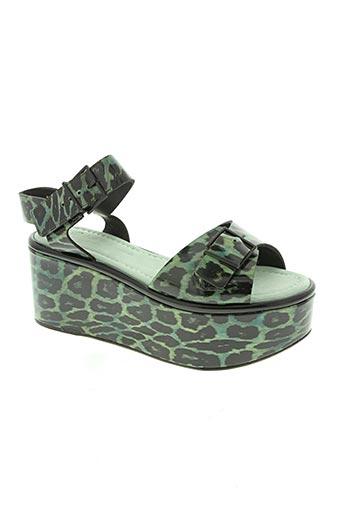 robert clergerie chaussures femme de couleur vert