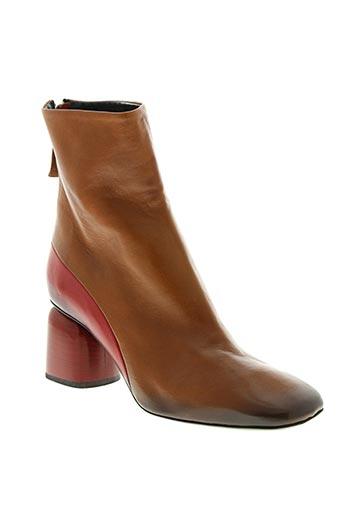 halmanera chaussures femme de couleur marron
