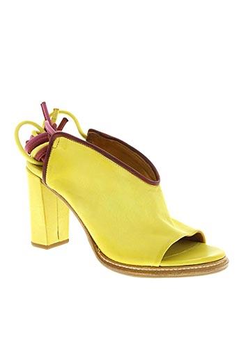a.s.98 chaussures femme de couleur jaune